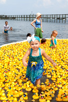 Hailey (age 2 1/2) playing in the ducks.