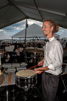 Percussionist Jeremy Katalenic prepares for the opening number.