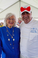 Helen Post and Chef Joe Faria.