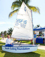 Ambassador for The Arc, Patricia Moody, tries out the Youth Sail
